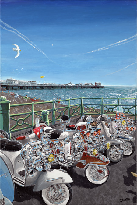 Scooters on Brighton Front by Ben Boston